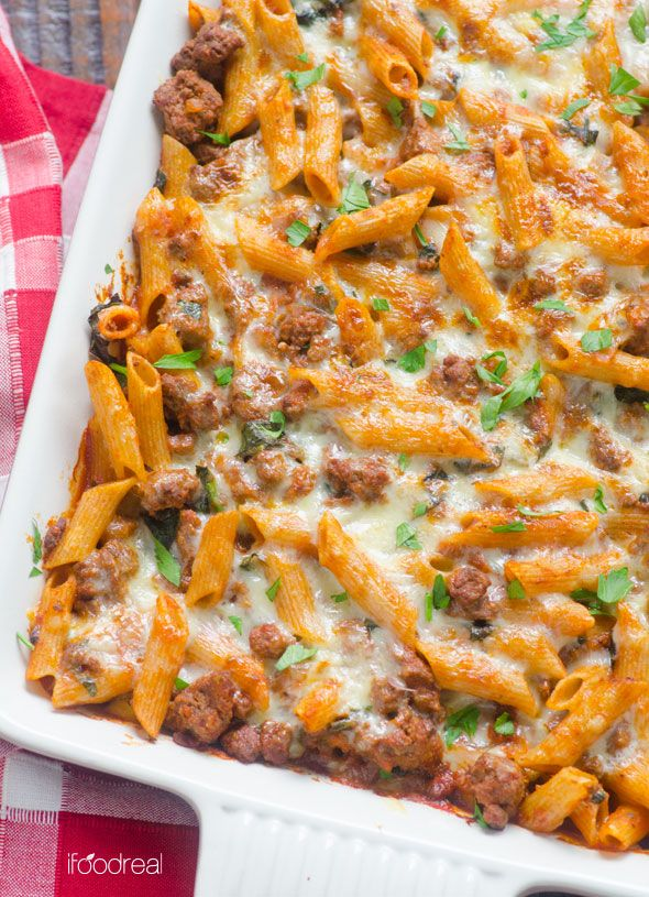 Turkey and spinach pasta recipes