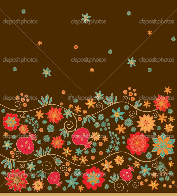 цветочная граница - Стоковая иллюстрация: 36197987