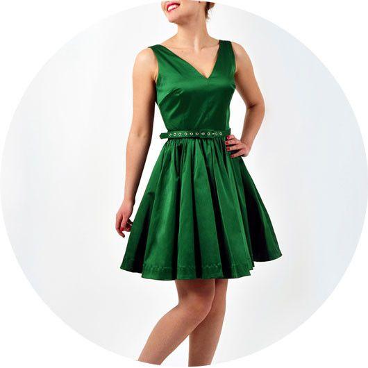 Ballerina Dress In Green By Trashy Diva
