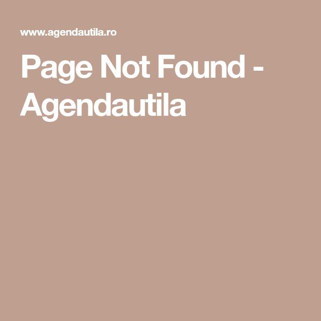 Page Not Found - Agendautila