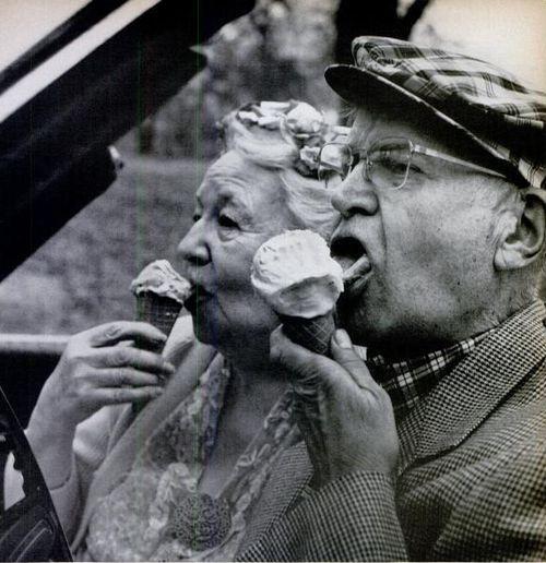Ice cream at any age.