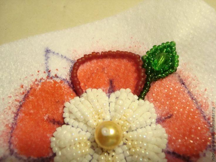 Вышиваем бисером брошь «Роза Тюдоров» - Ярмарка Мастеров - ручная работа, handmade