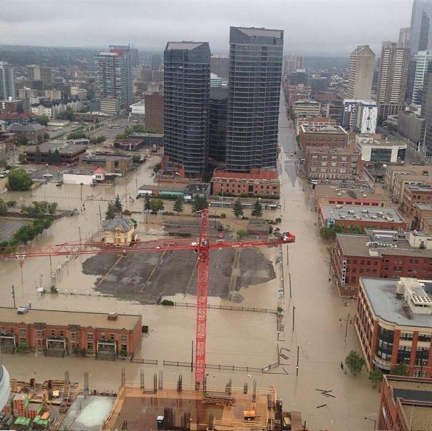 Downtown Calgary - flood June 2013