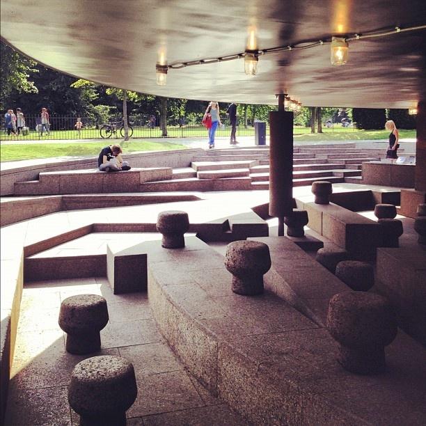 Inside the Serpentine Gallery Pavilion by Herzog & de Meuron with Ai Weiwei