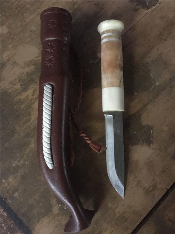 Lappkniv sameslöjd renhornskniv på Tradera.com - Knivar från