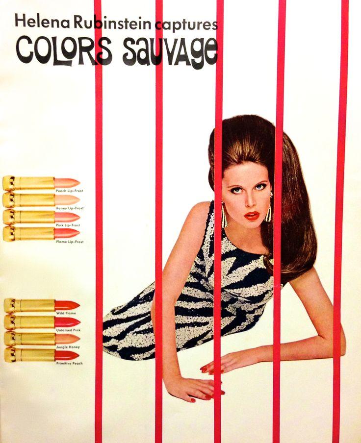 Helena Rubinstein 'Colors Asuvage' Lipstick Ad, 1966