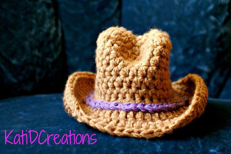 Crochet Mini Cowboy Hat Pattern : 167 best images about Punto y ganchillo mini on Pinterest ...