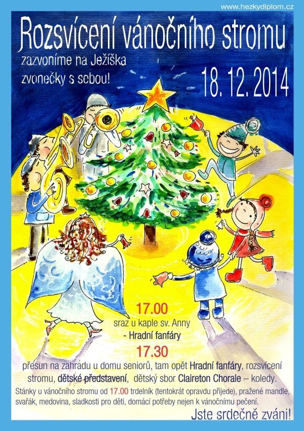 plakát Rozsvícení vánočního stromu v Satalicích
