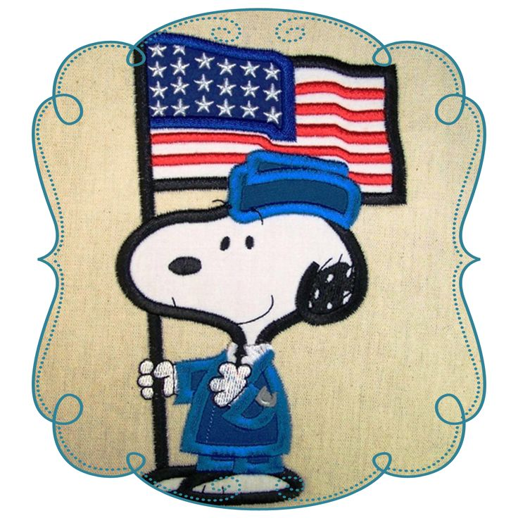 Airforce Snoopy Applique Machine Embroidery Design Pattern-INSTANT DOWNLOAD