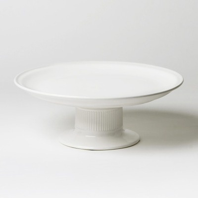 Global Views Polished Tazza Cake Stand in White $99
