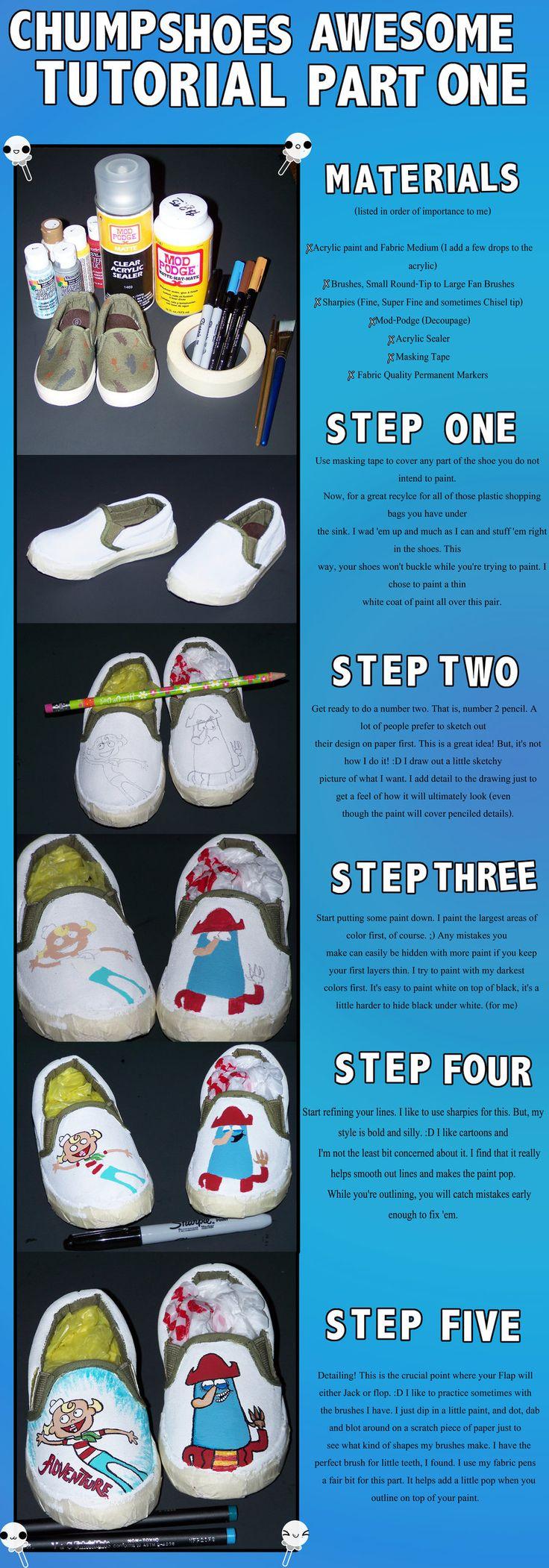 Painting Shoes Tutorial I by ChumpShoes.deviantart.com on @deviantART - part 1