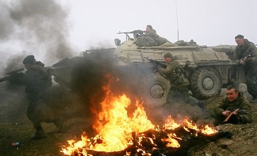 Marines of the Black Sea Fleet see action in Chechnya.