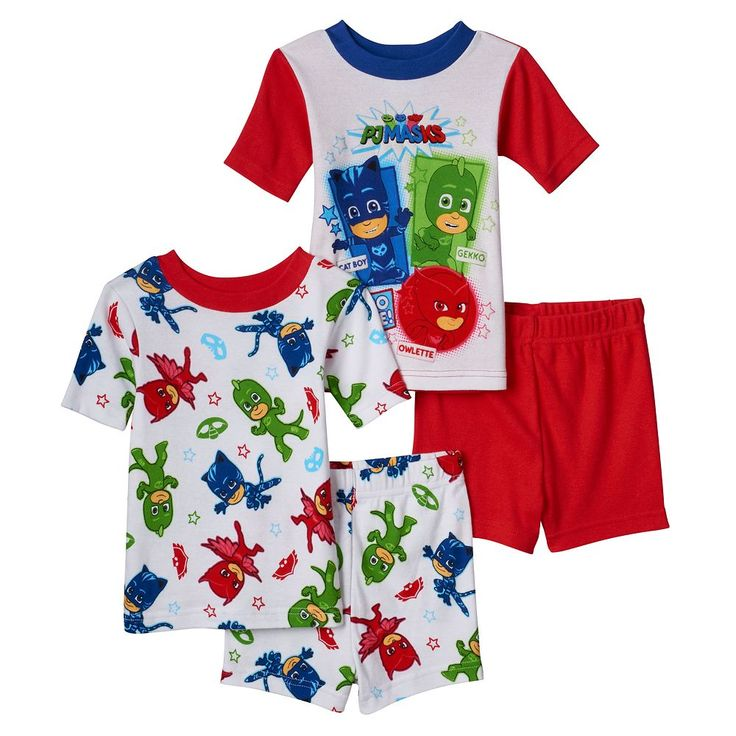 Toddler Boy PJ Masks 4-pc. Glow-in-the-Dark Owlette, Gekko & Catboy Pajama Set, Size: 2T, Multicolor