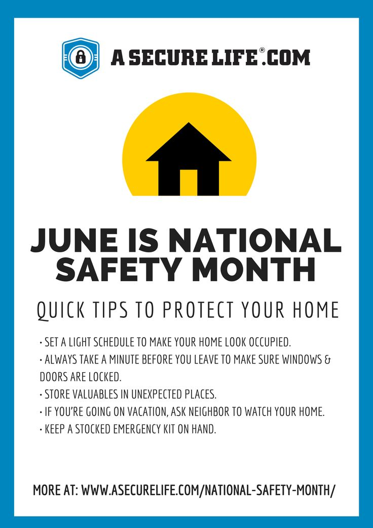 June is National Safety Month, are you living A Secure Life? www.tomeslawfirm.com