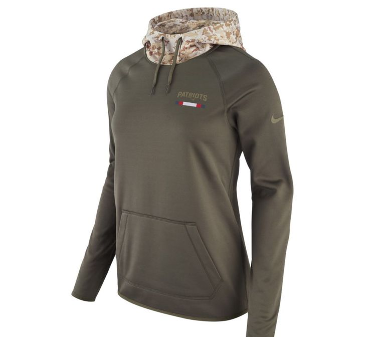 New England Patriots Nike Olive Salute to Service Performance Pullover Hoodie #Nike #Jerseys