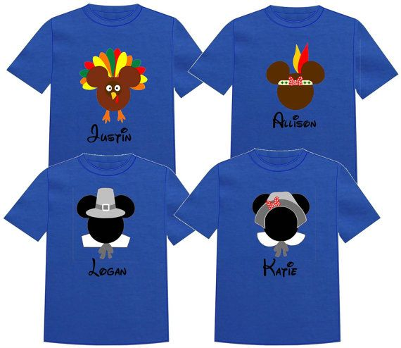 FAMILY SET Disney Thanksgiving Vacation T shirt