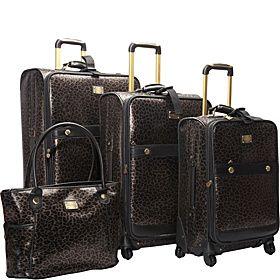 Adrienne Vittadini Southampton 4 Piece Spinner Luggage Set - Black - via eBags.com!