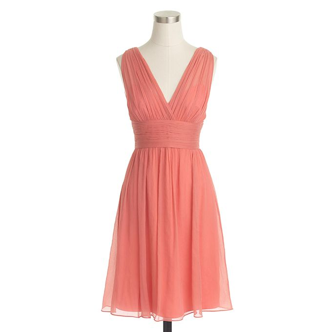 1000 ideas about coral bridesmaids on pinterest coral for J crew short wedding dresses