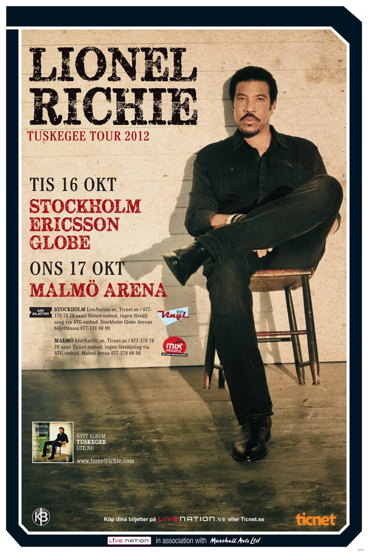 17 best images about various concert posters on pinterest Lionel richie madison square garden