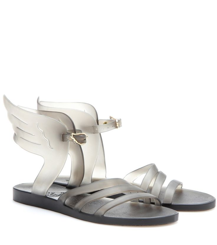 Ancient Greek Sandals - Ikaria rubber sandals - Tackle pool side dressing with the 'Ikaria' sandals from Ancient Greek Sandals. They're made from a lightweight rubber - perfect for hotter weather - and finished with the label's signature statement wings to the ankle strap. seen @ www.mytheresa.com