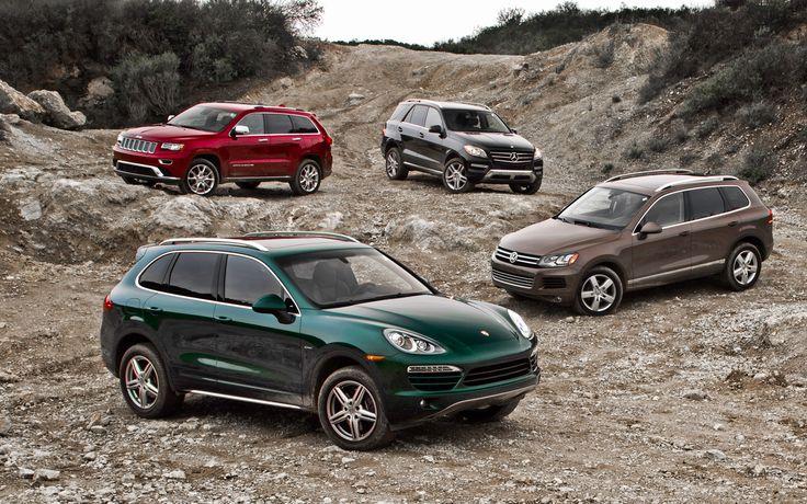 2014 Jeep Grand Cherokee Summit 4x4 EcoDiesel vs. 2013 Mercedes-Benz ML350 BlueTec vs. Porsche Cayenne Diesel vs. Volkswagen Touareg TDI - Luxury Diesel SUV Comparison - Motor Trend