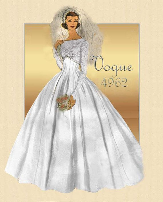 124 best Vintage wedding dress and evening gown patterns images on ...