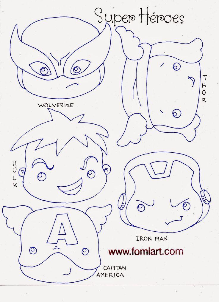 Patrones de Super Héroes Avengers en Miniatura | Fomiart