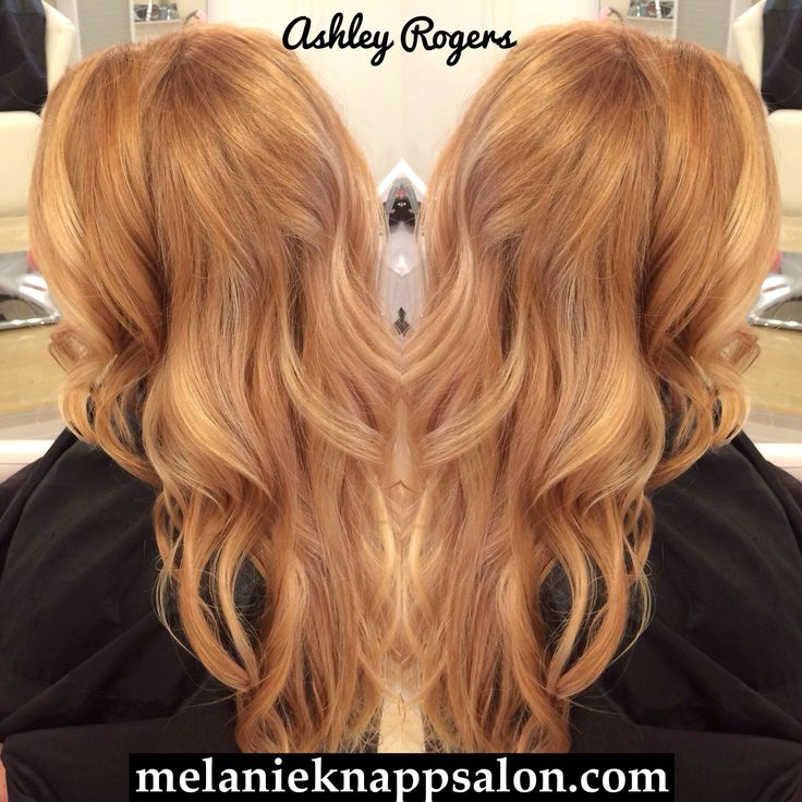 strawberry blonde balayage by ashley rogers pamper pinterest haarfarben haar und frisur. Black Bedroom Furniture Sets. Home Design Ideas