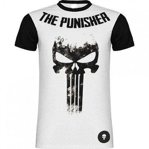 Camiseta The Punisher Bicolor El Castigador de SportShirtFactory en Etsy