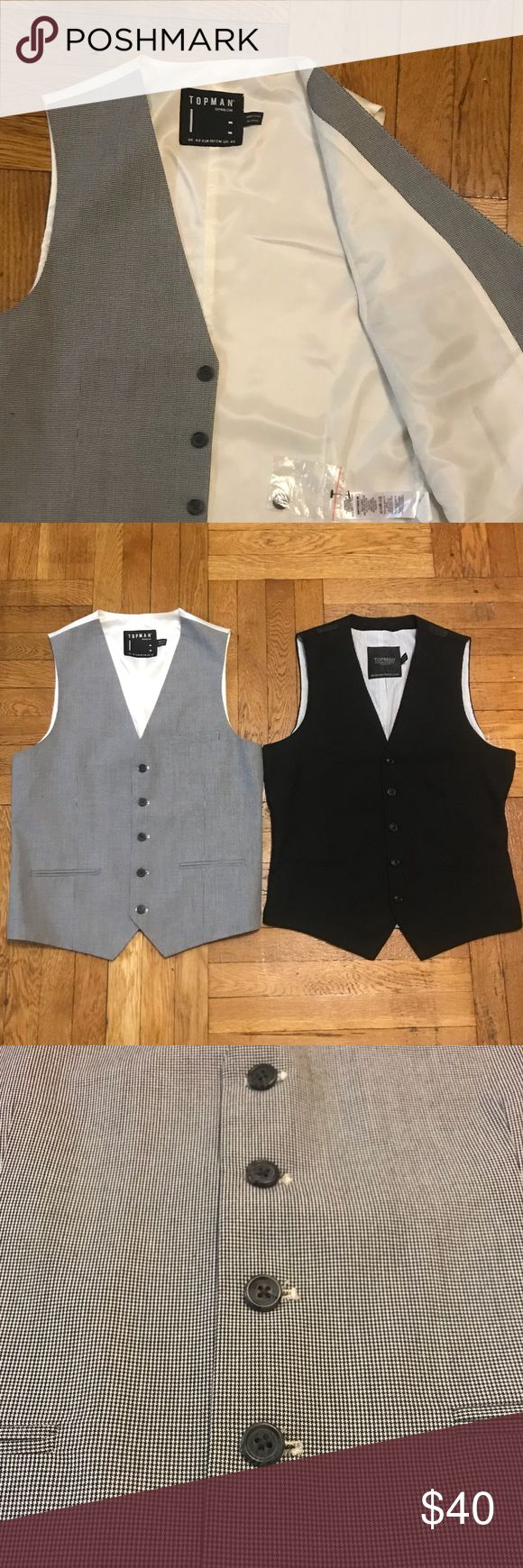 ✨SALE BUNDLE✨ TOPMAN Vest 40 One new. Excellent condition Topman Suits & Blazers Vests