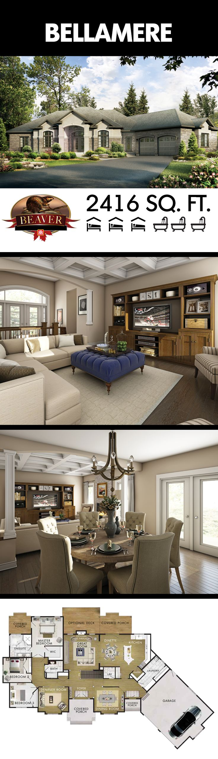 best 25 bungalow house design ideas on pinterest bungalow house the bellamere is an open concept executive style 3 1 bedroom bungalow armed bungalow decorbungalow house plansbungalow designshouse
