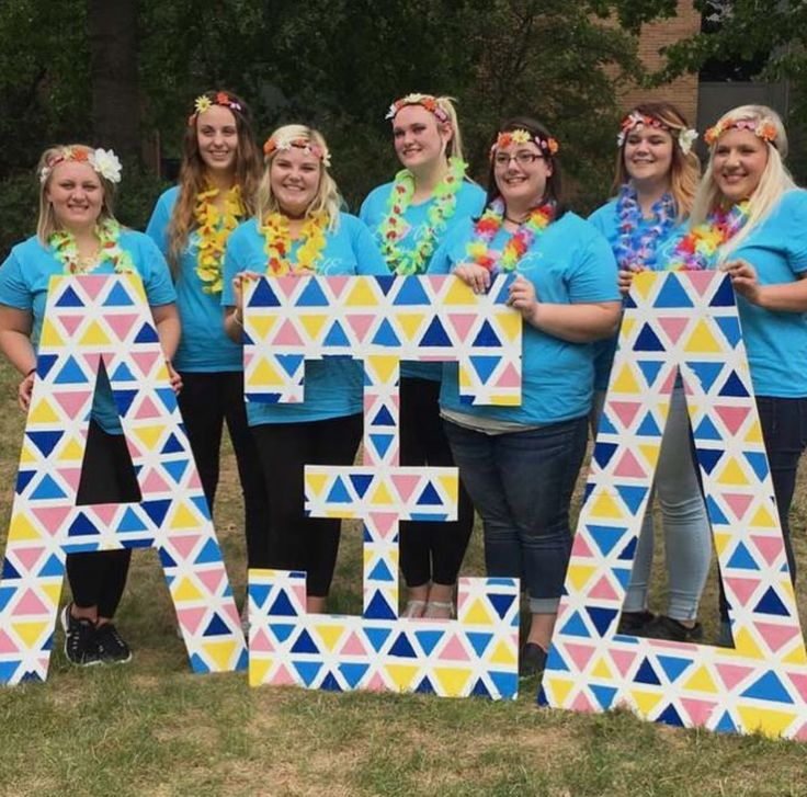 triangle themed alpha xi delta large greek letters