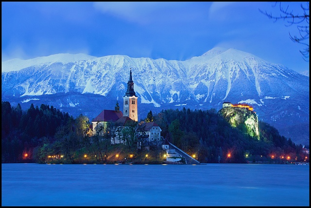 Lake Bled, Triglav National Park, Julian Alps,  Slovenia.