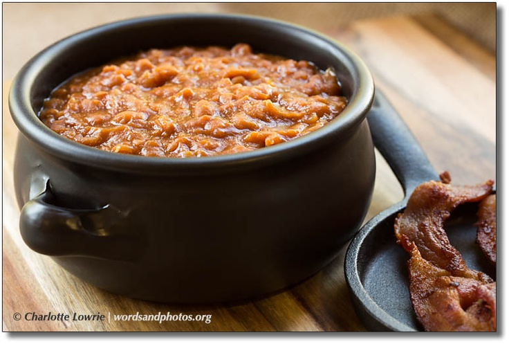 Mom's baked bean recipe with bacon. | Good Eats | Pinterest