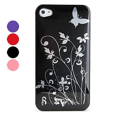 beschermende plastic behuizing voor de iPhone 4 en 4s (bloemen, verschillende kleuren) – € 1.71