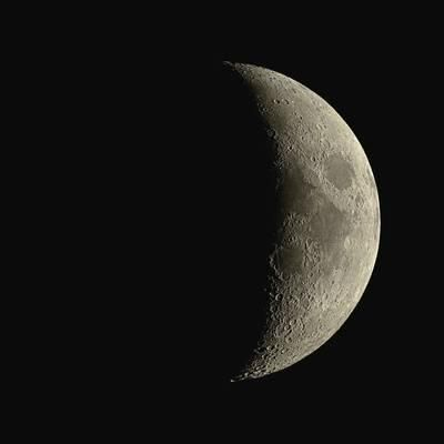 Waxing Crescent Moon Photographic Print by Eckhard Slawik at Art.com