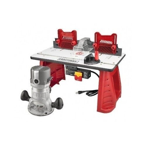Router Table Combo Craftsman Router with Bench Woodworking Workshop Miter Shop #CraftsmanRouterTableCombo