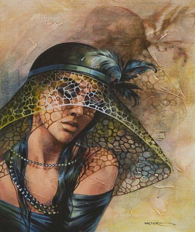rostros-femeninos-con-tocados-y-sombreros