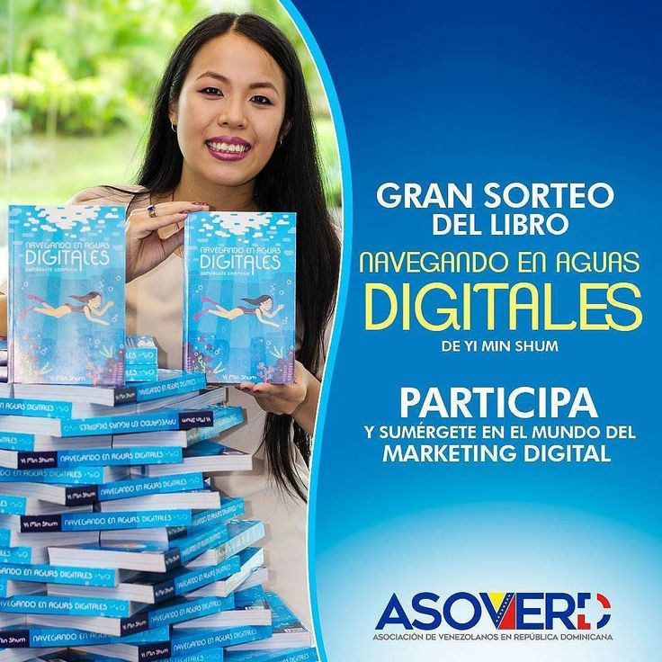 Concurso para #RepúblicaDominicana  Quién quiere un libro físico?  Te gusta el Marketing digital? Sabes como realizar un content marketing? Yi Min Shum CEO y Founder de World Media Care speaker consultora y asesora en Marketing Digital Marca Personal y Social Media  realizará  un taller el día 3 de Julio en ... Te esperamos ... Como sabemos que te interesa el tema y  gracias a su apoyo rifaremos un ejemplar de su libro Navegando en Aguas Digitales ideal para conocer más del mundo del…