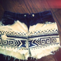 Aztec Ombre Highwaisted Shorts