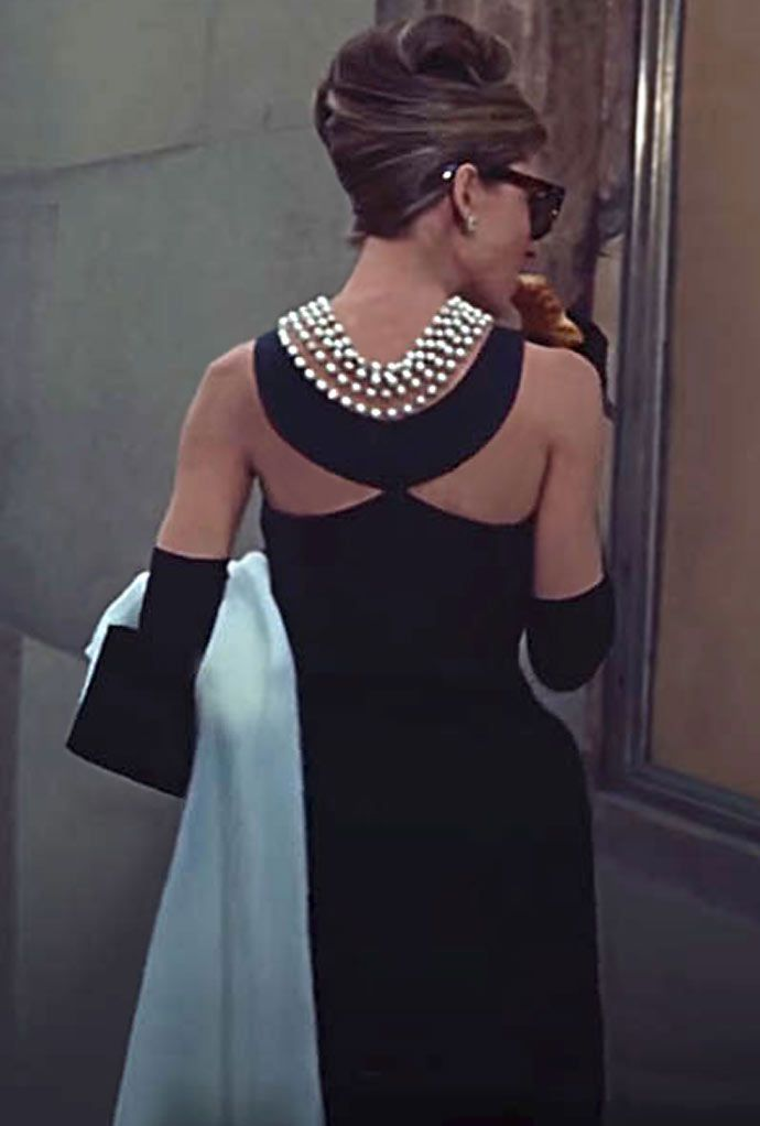 Buy a similar style on Shoptiques for $129 Holly Golightly arrives in a cab and has a very early morning breakfast in from of the Tiffan...