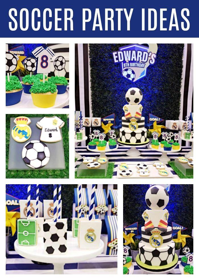 Fun Soccer Themed Birthday Party Pretty My Party Party Ideas Birthday Party Themes Sports Themed Birthday Party Unique Birthday Party Ideas