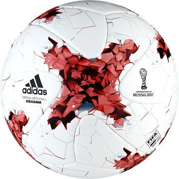 adidas Fotball Confederations Cup Krasava Kampball - Hvit/Rød