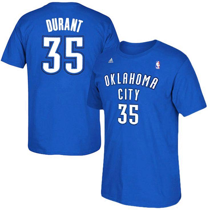 Kevin Durant Oklahoma City Thunder adidas Net Number T-Shirt – Light Blue - $20.89