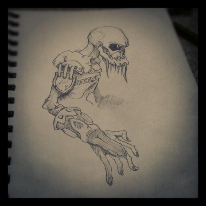 Daily sketch, undead warrior