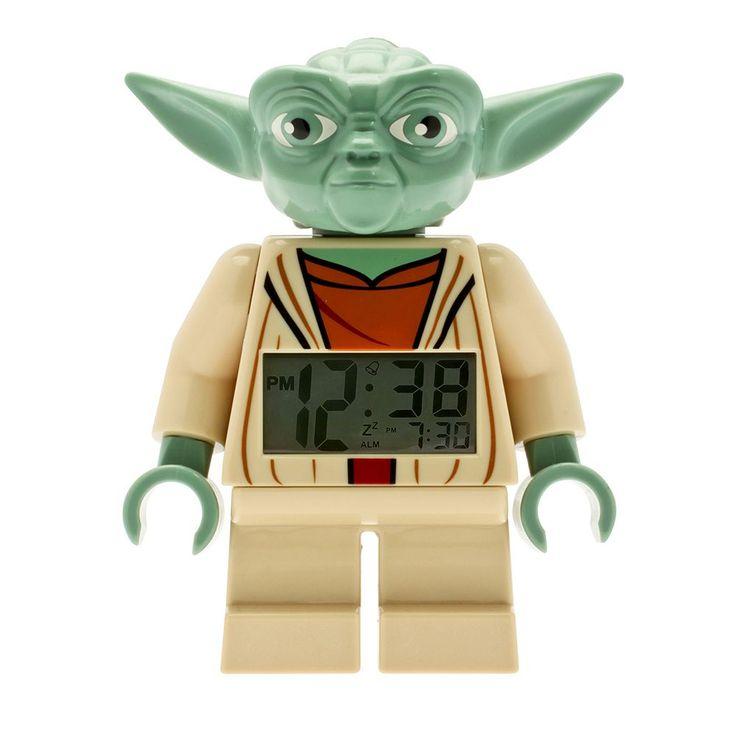 LEGO Star Wars Mini Yoda Alarm Clock by ClicTime, Multicolor