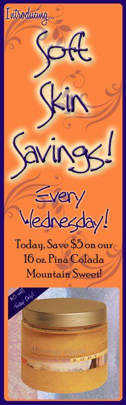 Pina Colada Mountain Sweet Suger Scrub on sale today! Save $ 5!!