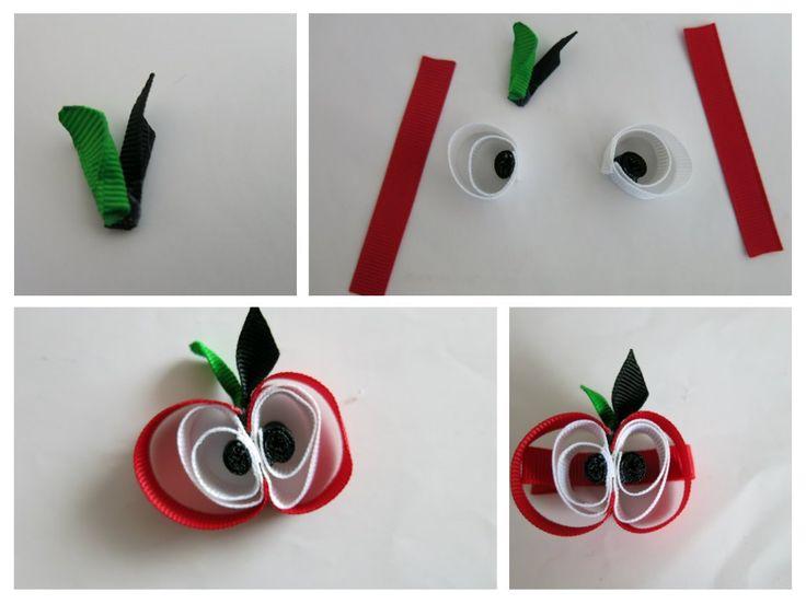 apple, ribbon accessories alma csatt -DIY