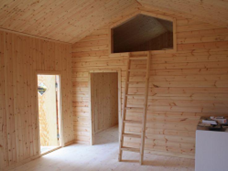 Friggebod, fritidshus, timmerstuga, gäststuga - KEO Stugan AB - Produktdatabas - Fritidshus 49,5 m² + Loft