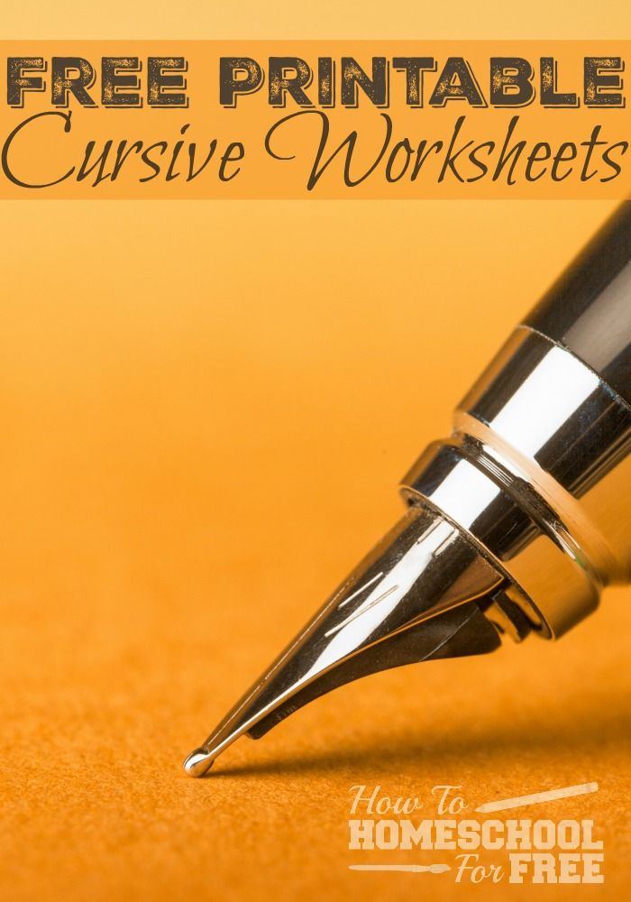 Cursive handwriting worksheets -free printable ...